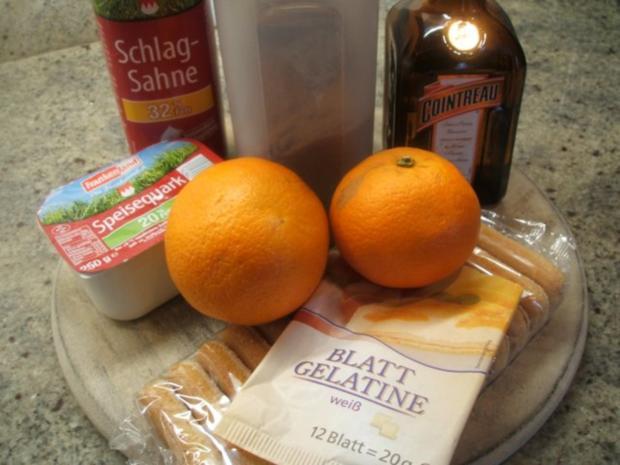 Dessert: Schneller Orangenquark auf Löffelbiskuit - Rezept - Bild Nr. 2