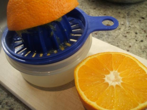 Dessert: Schneller Orangenquark auf Löffelbiskuit - Rezept - Bild Nr. 3