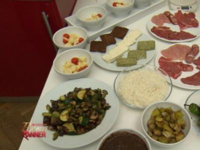 A Kilo e a Gosto - Fleischgrill mit Palmsalat (Fernanda Brandao) - Rezept
