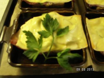 Toast mit Schinken und Paprika - Rezept
