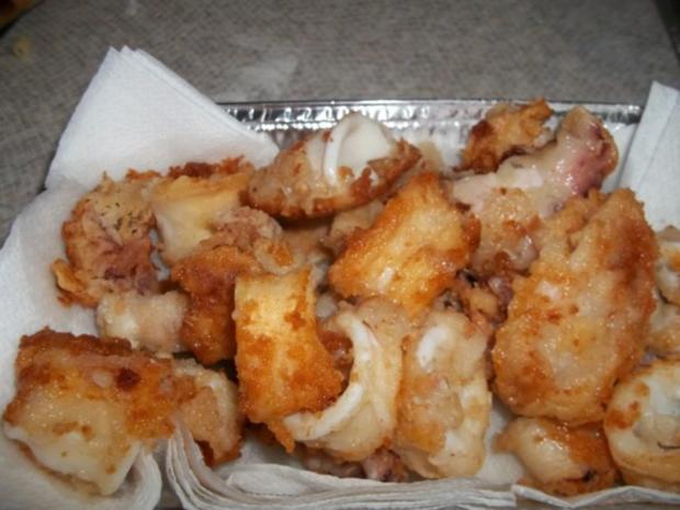 spagetti mit meeresfrùchten  und danach calamaris gebraten - Rezept - Bild Nr. 4