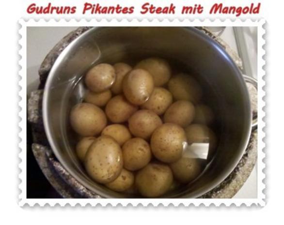 Fleisch: Pikantes Steak mit Mangoldgemüse - Rezept - Bild Nr. 2