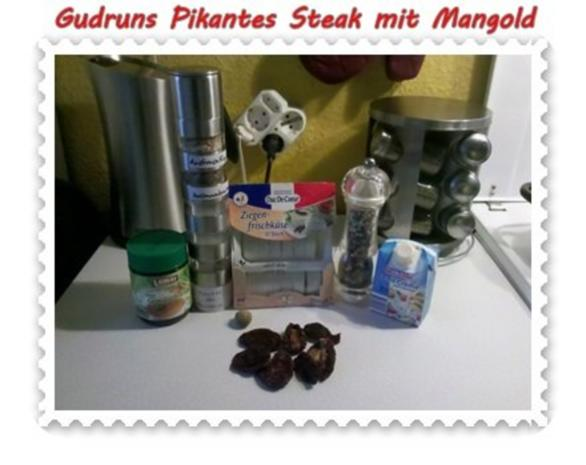 Fleisch: Pikantes Steak mit Mangoldgemüse - Rezept - Bild Nr. 4