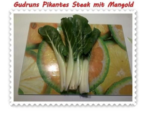 Fleisch: Pikantes Steak mit Mangoldgemüse - Rezept - Bild Nr. 5