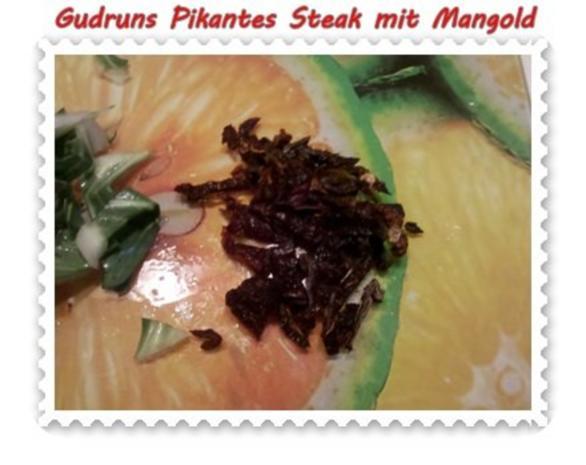 Fleisch: Pikantes Steak mit Mangoldgemüse - Rezept - Bild Nr. 7