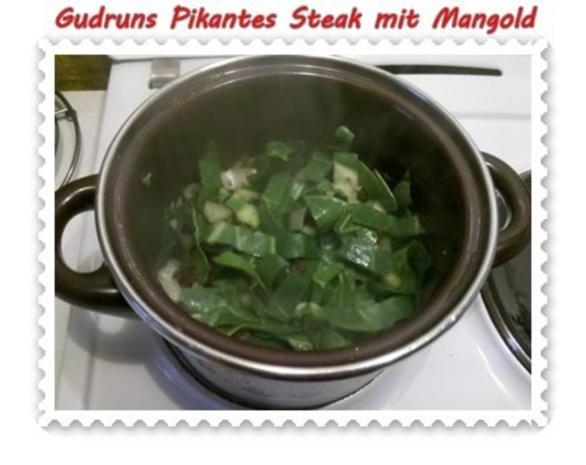 Fleisch: Pikantes Steak mit Mangoldgemüse - Rezept - Bild Nr. 9