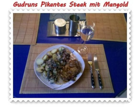 Fleisch: Pikantes Steak mit Mangoldgemüse - Rezept - Bild Nr. 14