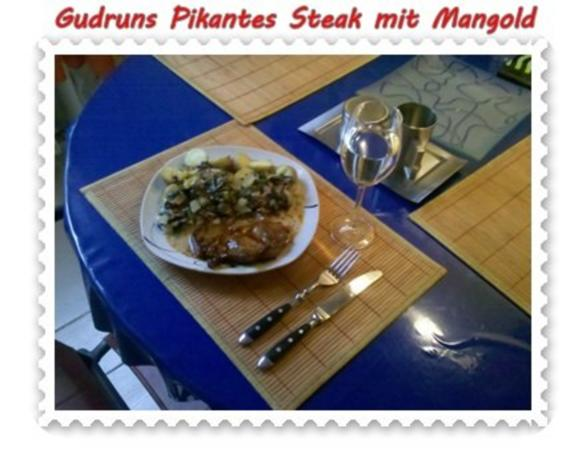 Fleisch: Pikantes Steak mit Mangoldgemüse - Rezept - Bild Nr. 15