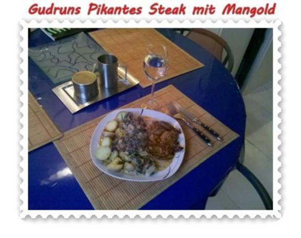 Fleisch: Pikantes Steak mit Mangoldgemüse - Rezept - Bild Nr. 16