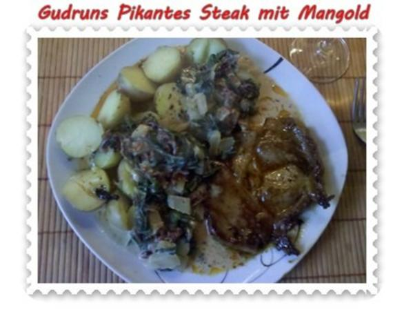 Fleisch: Pikantes Steak mit Mangoldgemüse - Rezept - Bild Nr. 17