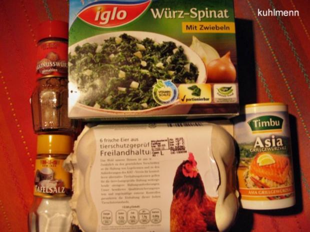 """Im Spinat """"verlorene Eier"""" - Rezept - Bild Nr. 2"""