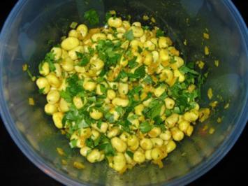 Ackerbohnensalat (Puffbohnensalat) - Rezept
