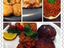 Fischfrikadellen mit Tomatenbulgur - Rezept