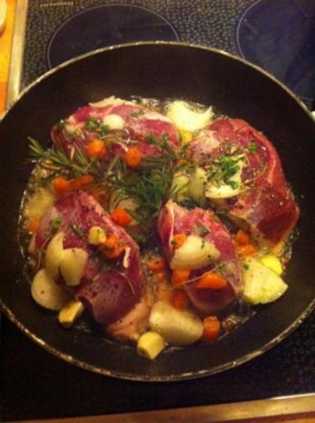 Ente in Honig -Orange an sommerlichen Salat - Rezept - Bild Nr. 3