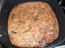 Spaghetti-Spinat-Omlett - Rezept
