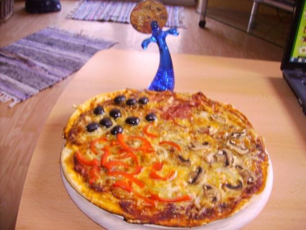 Pizza Quattro Stagioni - Rezept