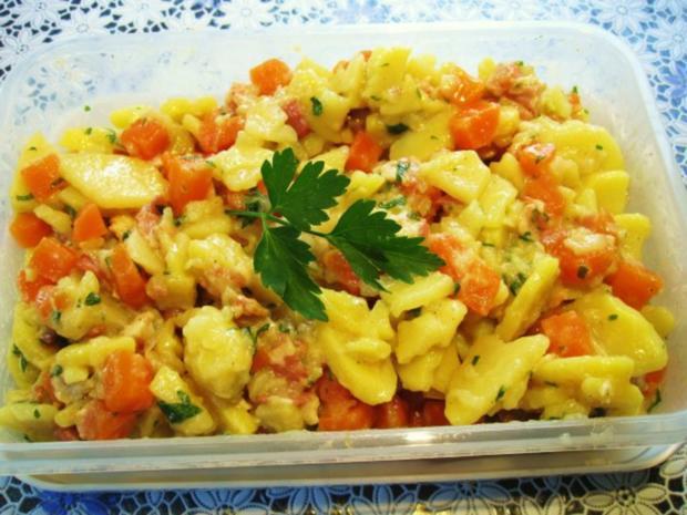 Die wunderbare Vermehrung von einem Rest Kartoffelsalat ... - Rezept - Bild Nr. 3