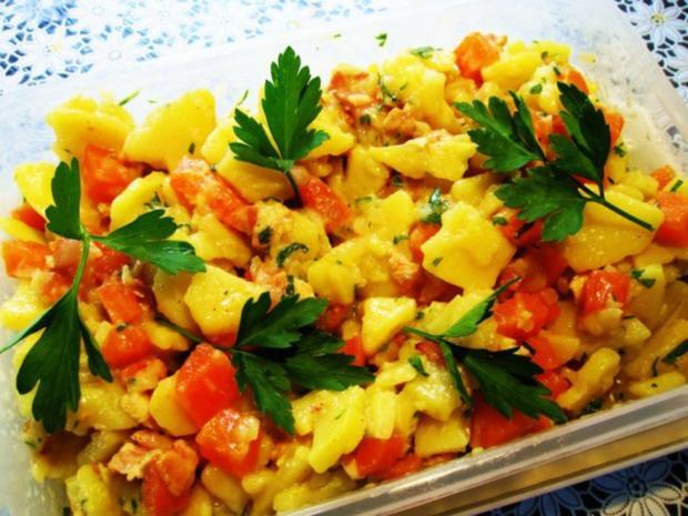 Die wunderbare Vermehrung von einem Rest Kartoffelsalat ... - Rezept - Bild Nr. 5
