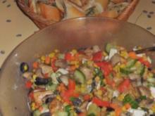 Salat mit gebratener Putenbrust - Rezept