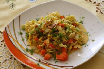 Gemüse-Schinken-Pfanne - Rezept