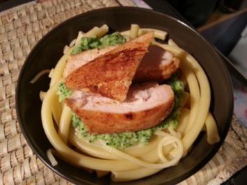 Rezept: Brokkoli -Sauce mit Makkaroni und Putenfiletstreifen