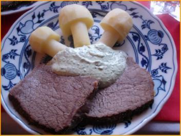 Tafelspitz mit Kartoffelpilzen und Grüner Sauce - Rezept