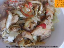 Teriyaki Hühnerfleisch mit Kraut aus dem Wok - Rezept