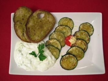 Zucchini und Tzatziki - Rezept