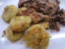 Kartoffeln: Gebackene Kräuter-Gnocchi aus Ofenkartoffeln - Rezept