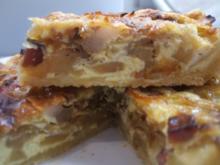 Quiche: Zwiebel-Apfel-Tarte für die kleine Form (16 cm) - Rezept