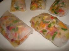 Frühlingsrollen im Reisblatt - Rezept