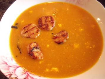 Kürbis-Orangen-Kokos-Suppe - Rezept