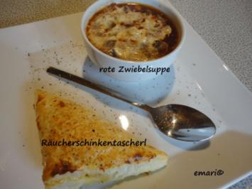 rote Zwiebel Suppe - Rezept