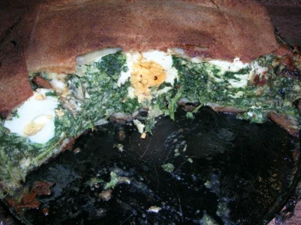 Torta Pasqualina - eine italienische, österliche Spinattorte - Rezept - Bild Nr. 3