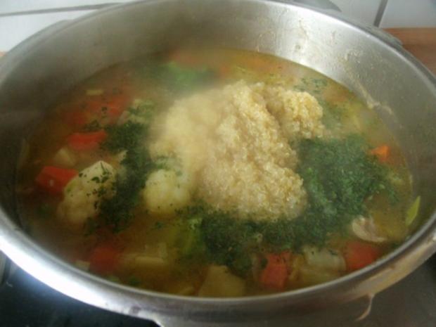 Hühnergemüseeintopf mit Quinoa - Rezept - Bild Nr. 8