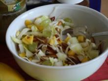 Chicoreesalat mit Melone und Trauben - Rezept