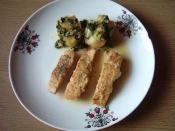 Lachs gebraten mit Buttersoße - Rezept