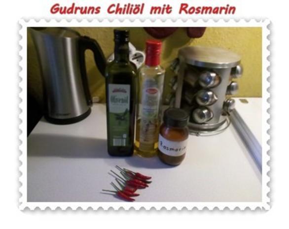 Öl: Chiliöl mit Rosmarin - Rezept - Bild Nr. 2