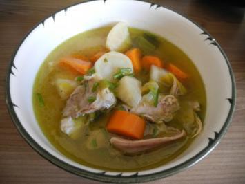 """"""" Heute gab´s ein Suppenhuhn, das gestern tat noch huppen tun """" - Rezept"""