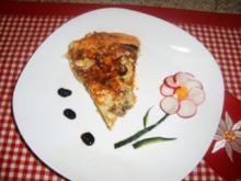 Pilz-Quiche mit Brie-Käse - Rezept