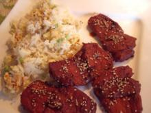 Teriyaki-Huhn und Eierreis - Rezept