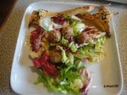 Speck Pralinen im Salat Bett - Rezept