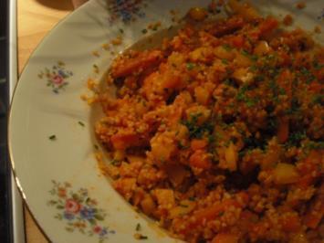 Feuriger Tomaten-Bulgur-Salat - Rezept