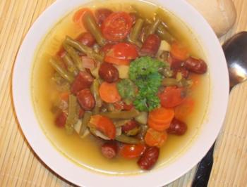 Schnibbelbohnen - Suppe - Rezept