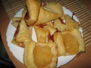 Flotte Blätterteigkissen - süß - Rezept