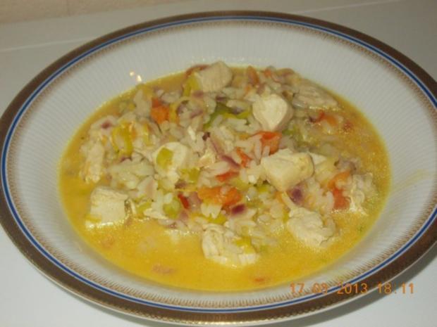 Hähnchencurry mit Reis - Rezept