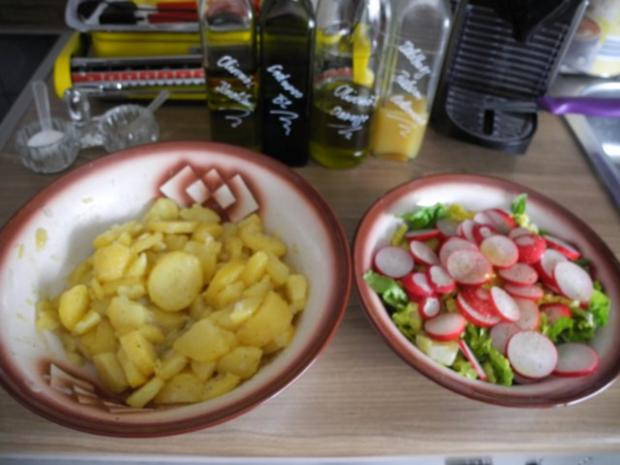 Salat : Bunten Kartoffelsalat mit Wiener Würstchen - Rezept - Bild Nr. 5