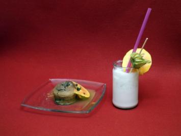 Guaven-Kokos-Flip mit warmem Schokotörtchen - Rezept