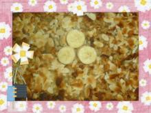 Bananen-Apfelauflauf mit Nußstreuseln - Rezept