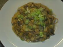 Vollkornspaghetti mit Apfel-Pilz Sosse - Rezept